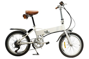 Mini Ebike with white paint